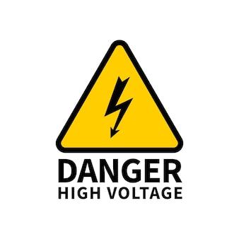 Ilustración de peligro de alto voltaje