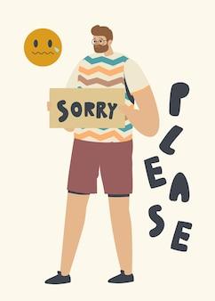 Ilustración de perdón