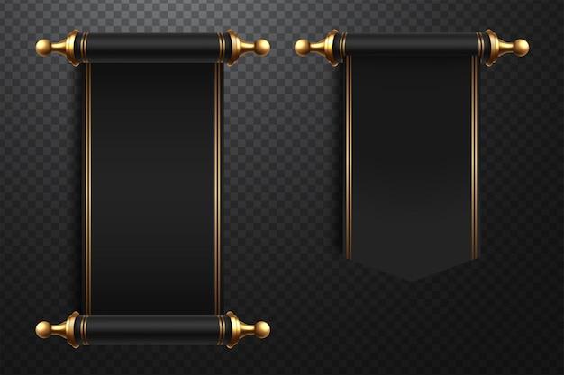 Ilustración de pergaminos realistas 3d sobre fondo transparente