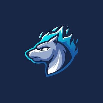Ilustración de perro azul