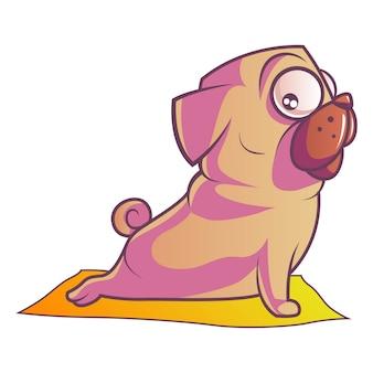 Ilustración de perro pug.