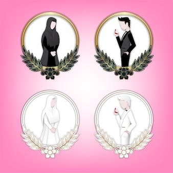 Ilustración de personaje de boda