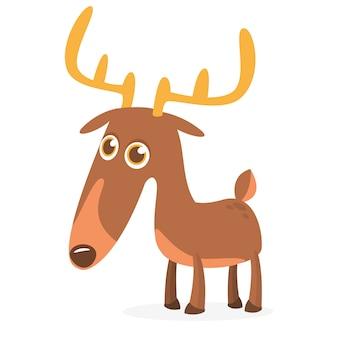 Ilustración de personaje de ciervo de dibujos animados.