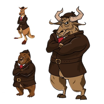 Ilustración de personaje de confianza animal detective