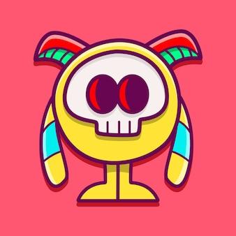 Ilustración de personaje de dibujos animados de monstruo