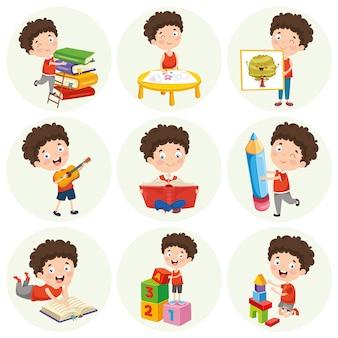 Ilustración de personaje de dibujos animados