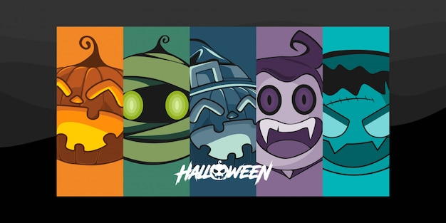 Ilustración de personaje de disfraz de halloween