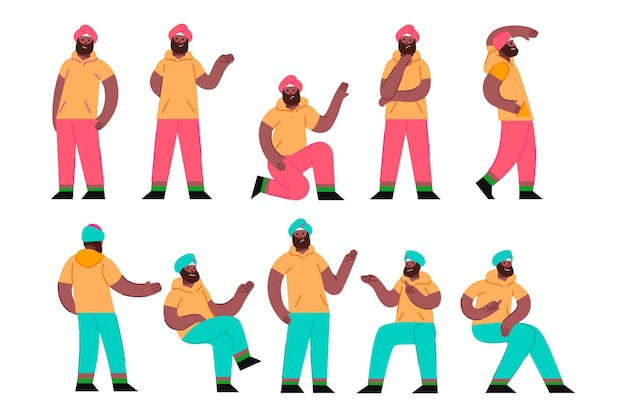 Ilustración de personaje de hombre