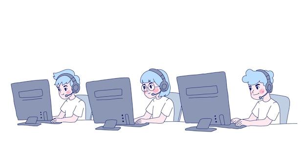 Ilustración de personaje de jugadores.