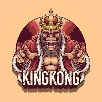 Ilustración de personaje de king kong
