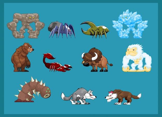 Ilustración de personaje monstruo bestia