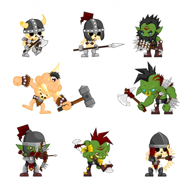 Ilustración de personaje de monstruo de fantasía