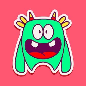 Ilustración de personaje de monstruo lindo