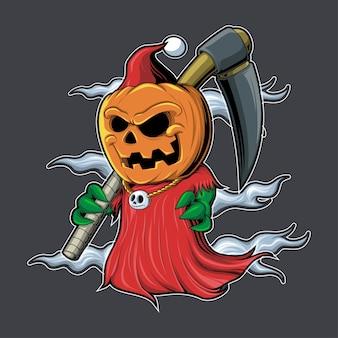 Ilustración de personaje de navidad de deathpumpkin