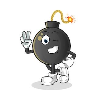 Ilustración de personaje de niño joven bomba