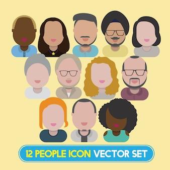 Ilustración de personas diversas