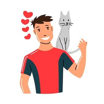 Ilustración de personas y mascotas