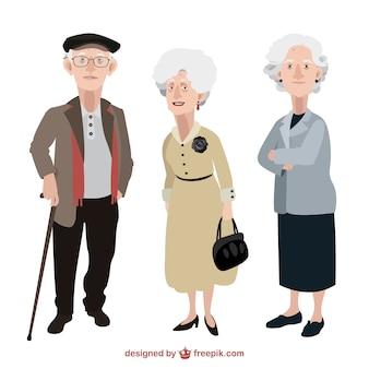 Ilustración de personas mayores