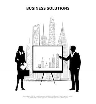 Ilustración de personas de negocios
