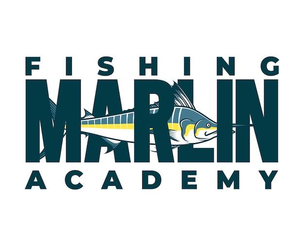 Ilustración de pesca con anzuelo y cuerdas sueltas adecuadas para logotipos e impresión de camisetas.