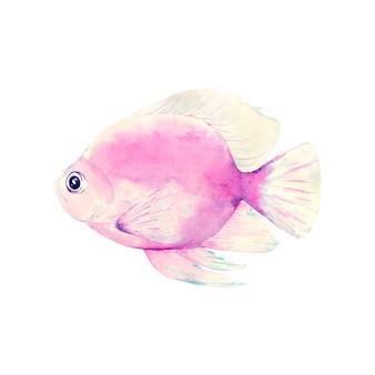 Ilustración de pescado tema marino.