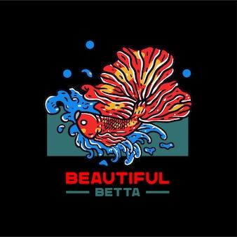 Ilustración de pez betta