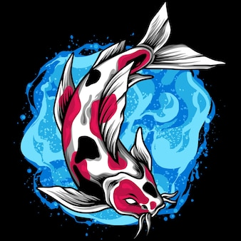 Ilustración de pez koi