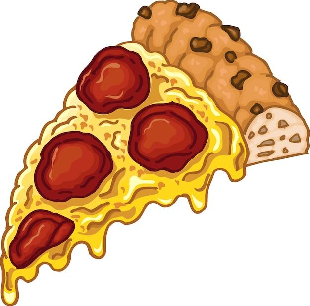 Ilustración pieza de pizza sabrosa