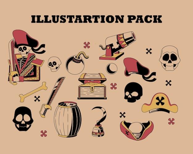 Ilustración de piratas