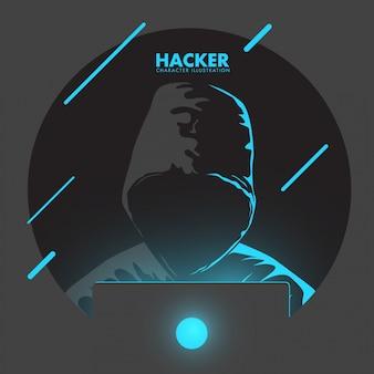 Ilustración de pirateo informático