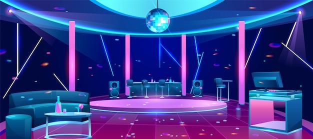 Ilustración de la pista de baile de la discoteca