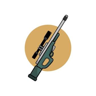 Ilustración de pistola de francotirador