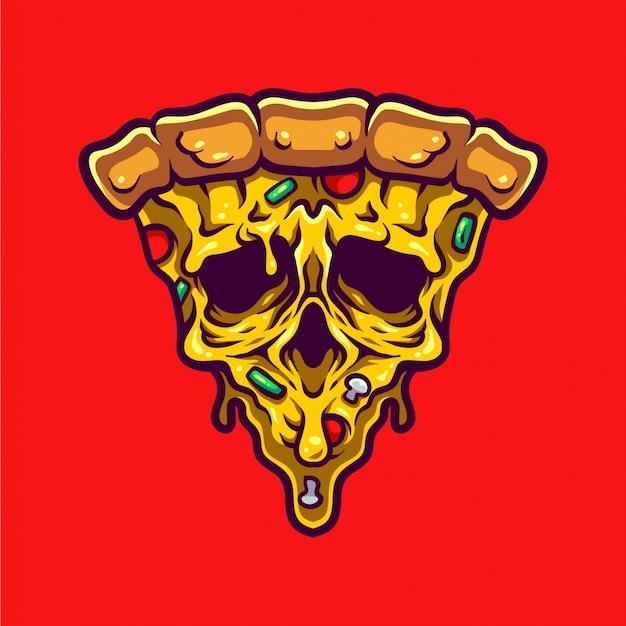 Ilustración de pizza monstruo