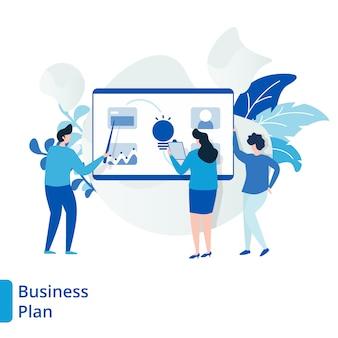 Ilustración del plan de negocios de la página de destino