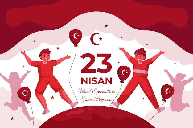 Ilustración plana 23 nisan