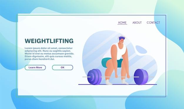 Ilustración plana de actividades deportivas