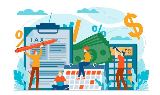 Ilustración plana de auditoría fiscal