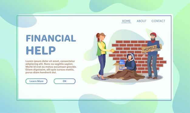 Ilustración plana de ayuda voluntaria