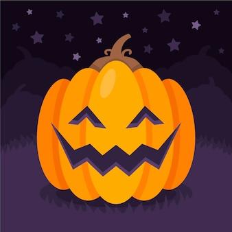 Ilustración plana de calabazas de halloween