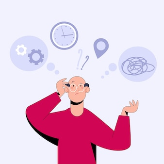 Ilustración plana del concepto de alzheimer