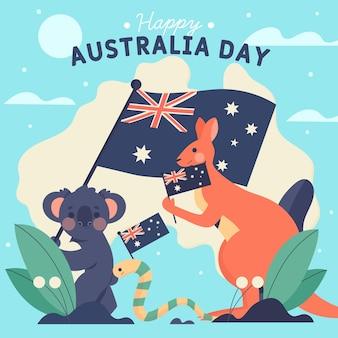 Ilustración plana del día de australia