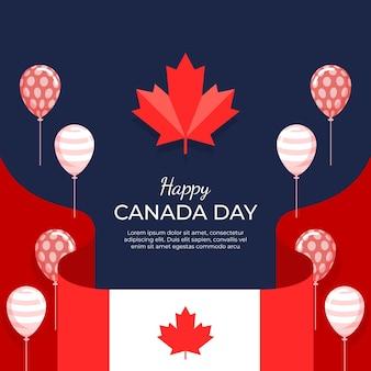 Ilustración plana del día de canadá