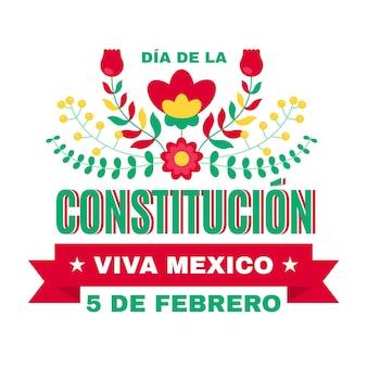 Ilustración plana del día de la constitución de méxico