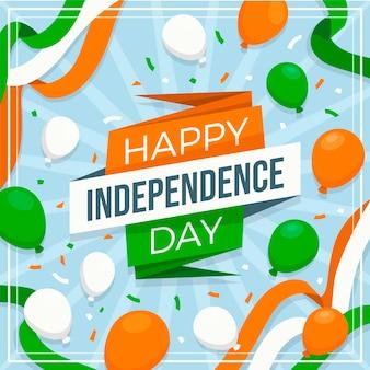 Ilustración plana del día de la independencia de india