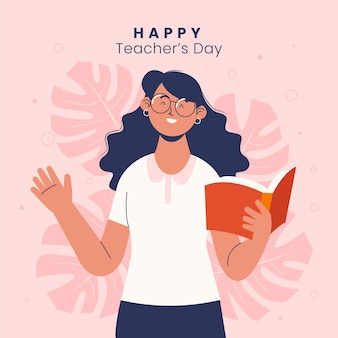 Ilustración plana del día del maestro