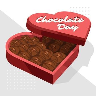 Ilustración plana del día mundial del chocolate