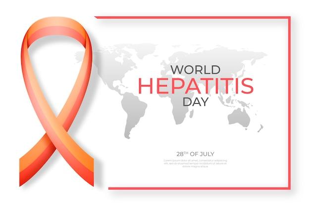 Ilustración plana del día mundial de la hepatitis