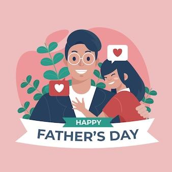 Ilustración plana del día del padre