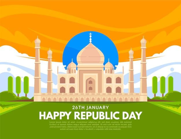 Ilustración plana del día de la república