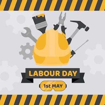 Ilustración plana del día del trabajo